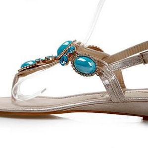 Beautiful Turquoise Beaded Sandals ..