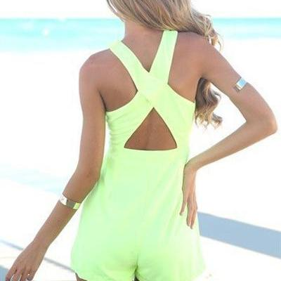 Gorgeous Cross Back Design Green Ju..