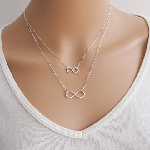 Cute Infinity Charmed Layered Necklace