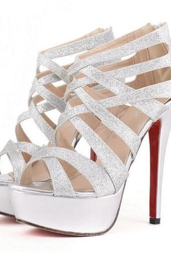 Criss Cross Caged Stiletto Heels
