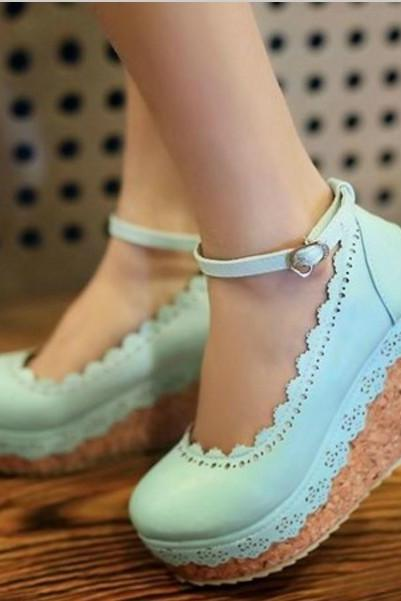 Cute Ankle Strap High Heel Fashion Shoes