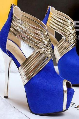 Elegant blue Party Pumps
