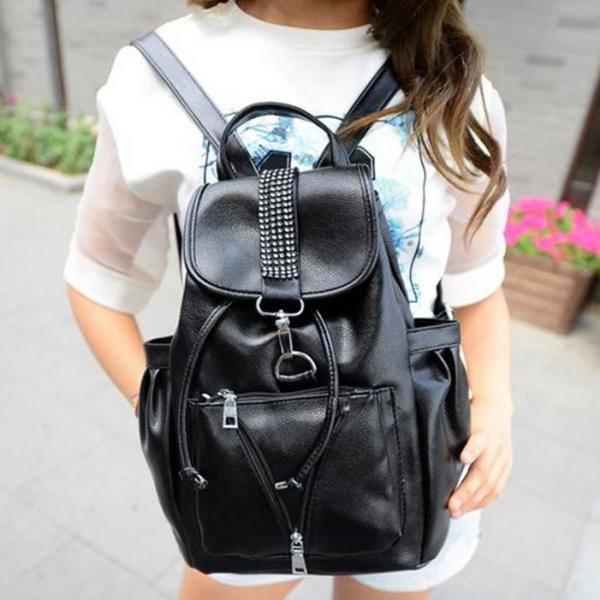 Rivet Design Backpack In 2 Colors